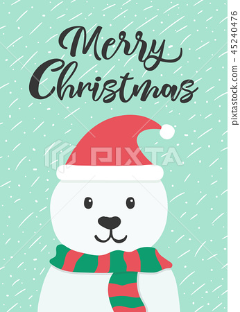 Christmas and New year greeting or invitation card 45240476