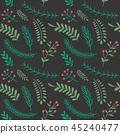Christmas, seamless, leaf 45240477