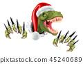 dinosaur, christmas, rex 45240689