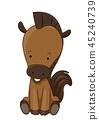 horse, vector, animal 45240739