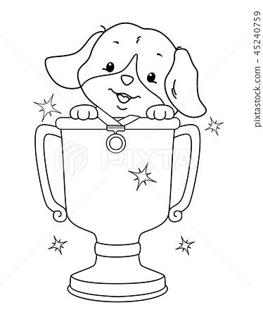 Coloring Dog Contest Winner Illustration 45240759