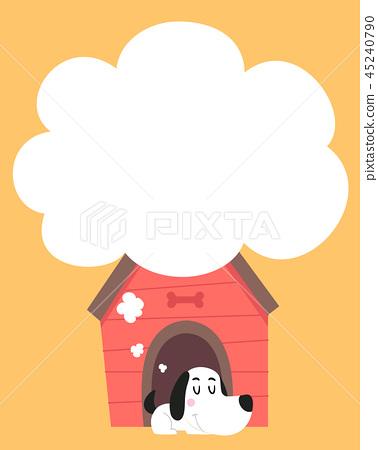 Dog Sleep Thinking Cloud Illustration 45240790