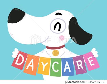 Dog Day Care Banner Illustration 45240797