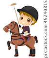 Kid Boy Polo Illustration 45240815