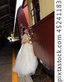 設法的新娘垂直的照片在觀光的火車上在Kuranda駐地圍場 45241183
