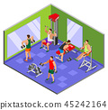 Body Building Gym Isometric Composition 45242164