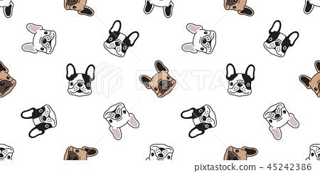 Dog seamless pattern vector french bulldog tile 45242386
