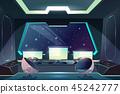 Alien spaceship pilot control panel cartoon vector 45242777