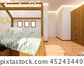 3d render Children's playroom and bedroom in the Scandinavian style 45243449