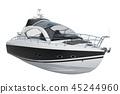 Modern motorboat, 3D rendering 45244960