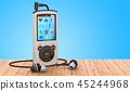 Digital audio player with earphones 45244968