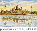 Angkor Wat Temple, Cambodia, Southeast Asia. 45249330