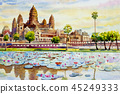 Angkor Wat Temple, Cambodia, Southeast Asia. 45249333