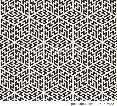 Vector seamless pattern. Modern stylish abstract texture. Repeating geometric tiles 45249422