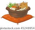 一个罐的例证用蘑菇 45249954