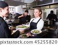 waitress, restaurant, kitchen 45255820