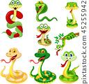 cartoon, cobra, serpent 45255942