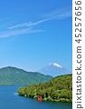 ทิวทัศน์ของจังหวัดฮานาโกะจังหวัดคานางาวะและภูเขาฟูจิ 45257656