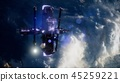 Earth and outer space station iss 45259221