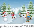 雪人 冬天 冬 45259989
