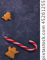 New Year's red-white lollipop with cookies 45261255