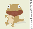 Cute lizard  cartoon vector 45262284
