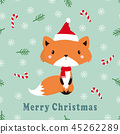 greeting pattern with fox 45262289