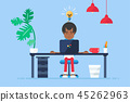 Professional Workplace with afro-american 45262963