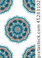 Abstract mandals boho seamless pattern 45263102