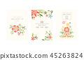 retro, invitation, wedding 45263824