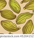 cardamom seeds vector pattern 45264152