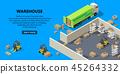 3d, isometric, warehouse 45264332