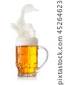 Foamy splash in a mug of light beer 45264623