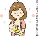 Breastfeeding (happy) 45269986