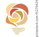 茶和芳香的例證 45270424