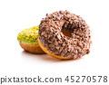 Sweet glazed donuts. 45270578