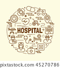 hospital minimal thin line icons set 45270786