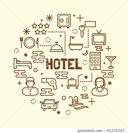 hotel minimal thin line icons set 45270787