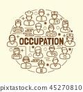 occupation minimal thin line icons set 45270810