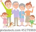 Family of six happy 45270969