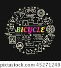 bicycle, bike, vector 45271249
