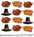 thanksgiving, pattern, pie 45271667