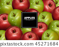 Realistic Apples background Vector. Red 45271684