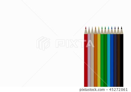 12支彩色鉛筆排列精美 45272861