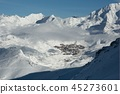 Val Thorens ski resort in the distance 45273601