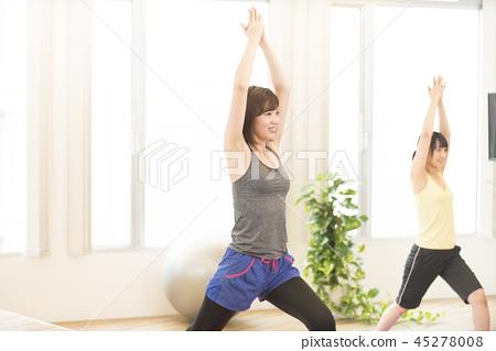 女人瑜伽健身健康 45278008