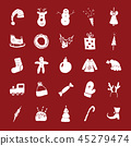 Christmas and New Year Icons doodles Set vector  45279474