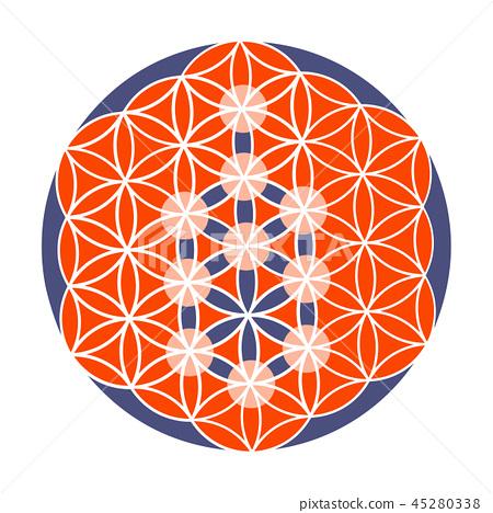 Sacred Geometry Vector Illustration Kabbalah Stock Illustration 45280338 Pixta It is used to show the path to god or hashem. https www pixtastock com illustration 45280338