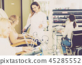 Girl doing nails displaying her workplace 45285552