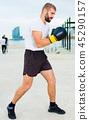 man, boxing, boxer 45290157